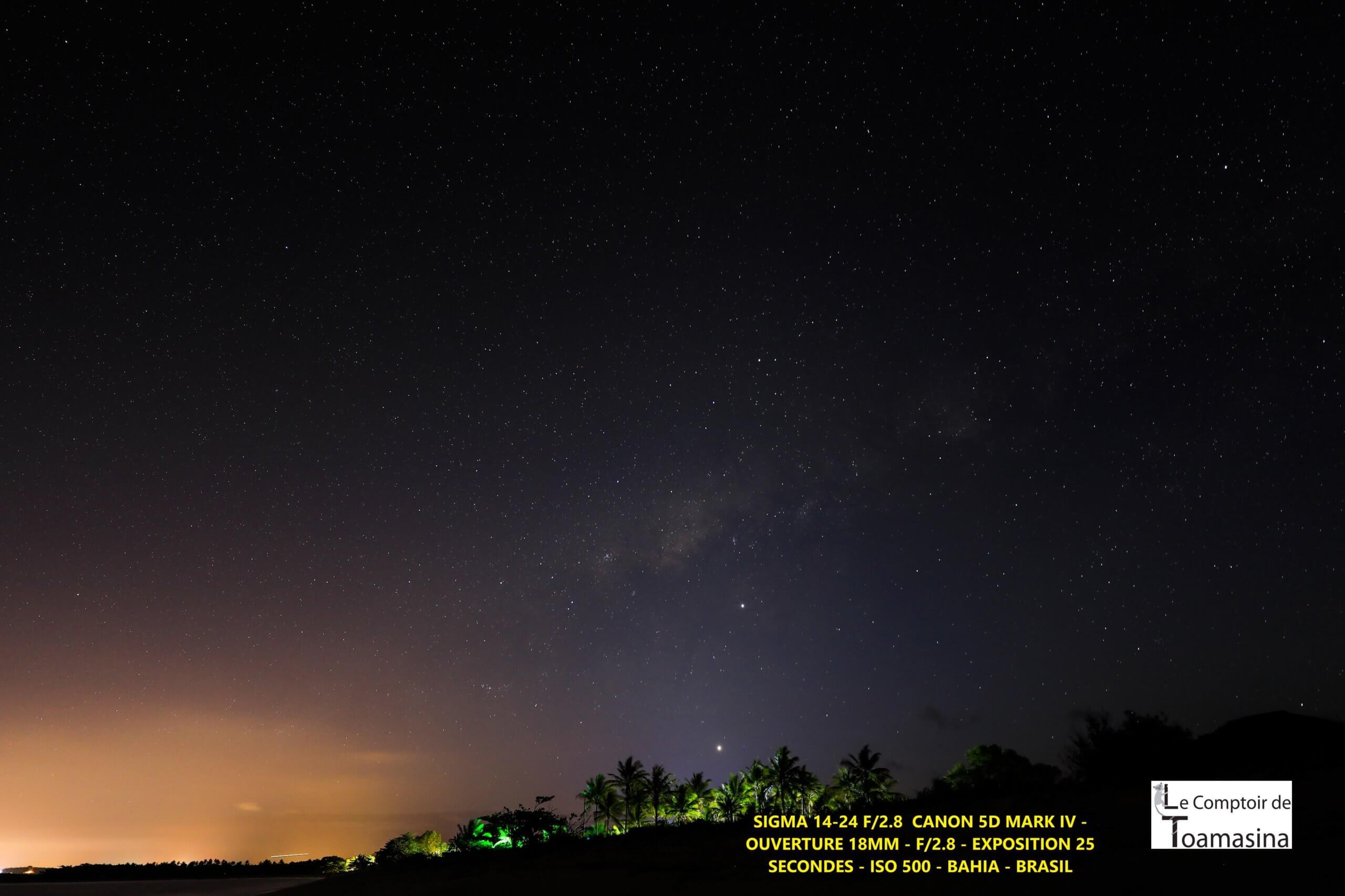 Photo de nuit avec le sigma 14-24 f2.8 + canon 5d mark 4